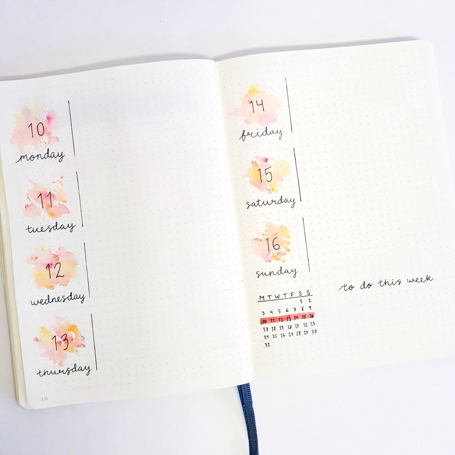 Last week's spread using Crayola supertips markers as watercolor - Album on Imgur #albumart