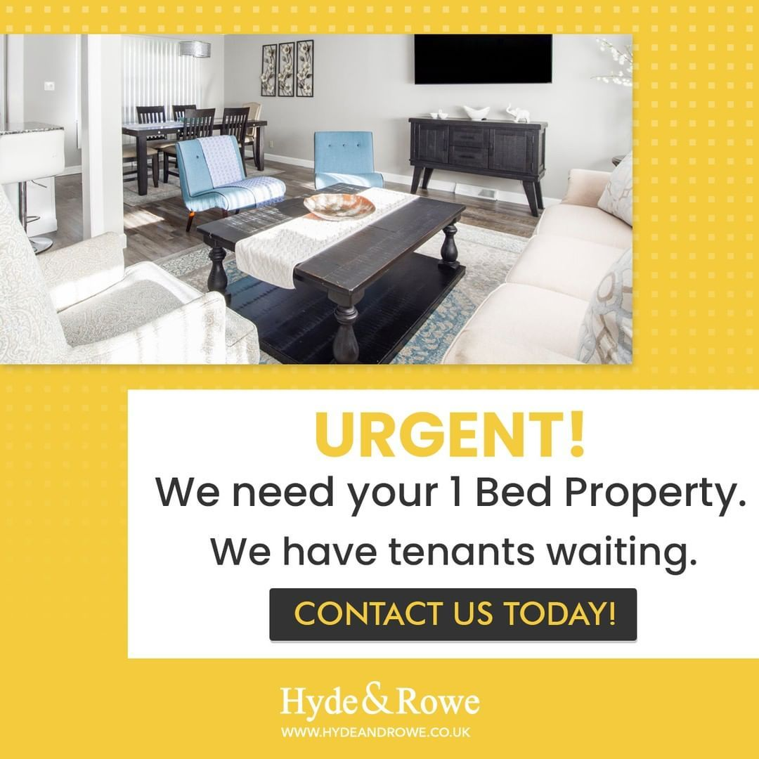 We Urgently Need 1-bed Properties. Ours Are Fully Let