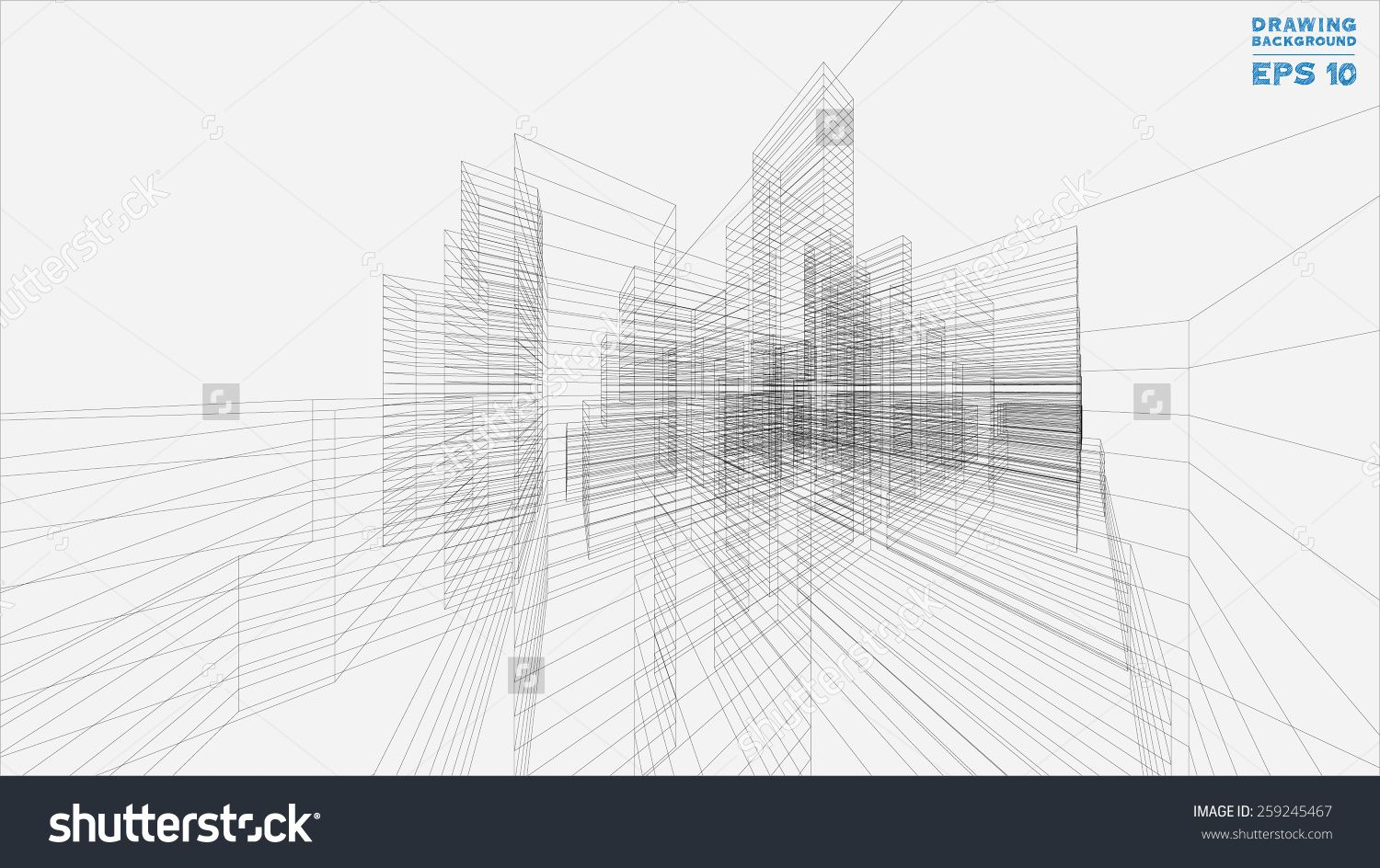 Perspective 3d render of building wireframe vector blueprint perspective 3d render of building wireframe vector blueprint background 259245467 shutterstock malvernweather