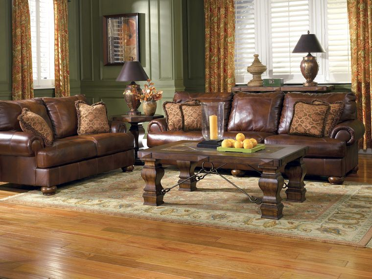 Brown Couch Decorating Ideas | ... Ideas Contemporary Small Living Room  With Brown Furniture Gallery