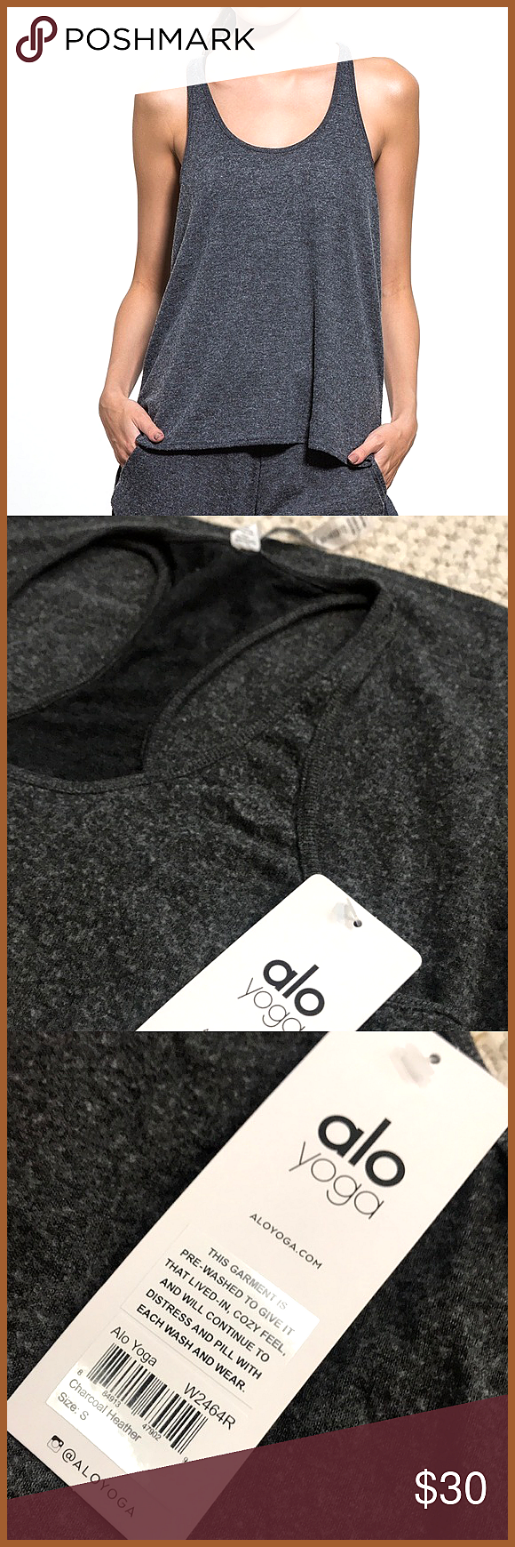 ALO Yoga Cozy Tank Charcoal Sz S NWT ALO Yoga Cozy Tank Charcoal Sz S Please see photos for more details ALO Yoga Tops Tank Tops NWT ALO Yoga Cozy Tank Charcoal Sz S NWT...