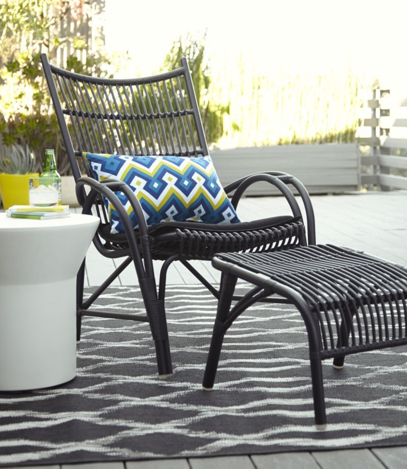 Kruger Black High Back Lounge Chair With Sunbrella Black Cushion Crate And Barrel Lounge Chair Outdoor Patio Chair Cushions Clearance Outdoor Furniture