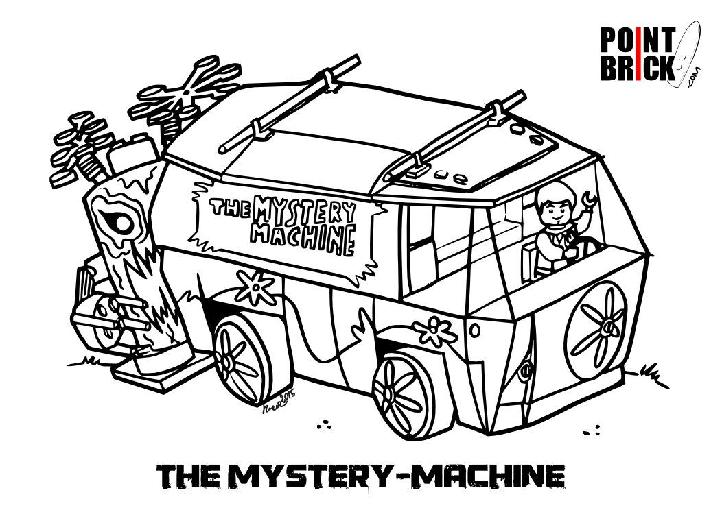Misteriosi Disegni Da Colorare Lego Scoobydoo Coloring Pages
