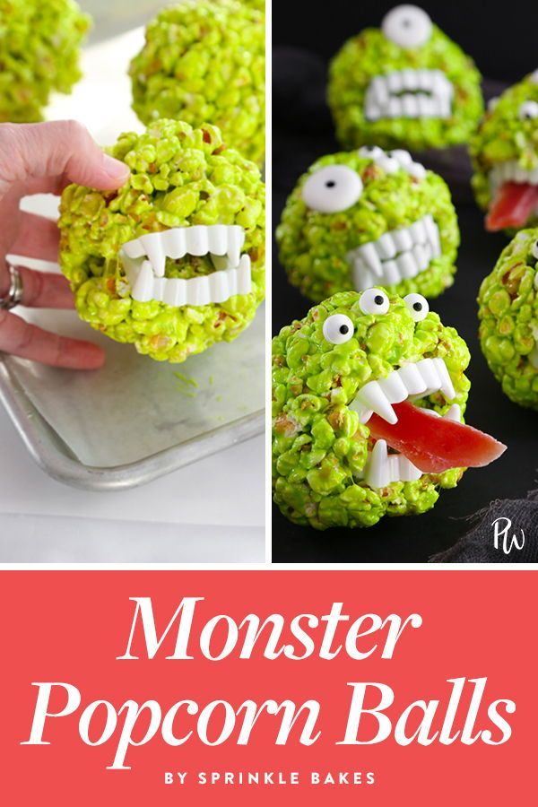 14 Spooky Halloween Treats to Make with Your Kids #popcornballs