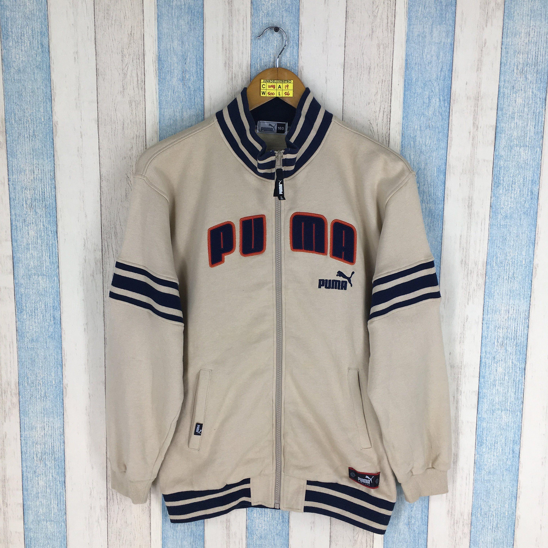 49f2900571d98 PUMA Sweater Jacket Small Vintage 90's Puma Activewear Puma Spell ...