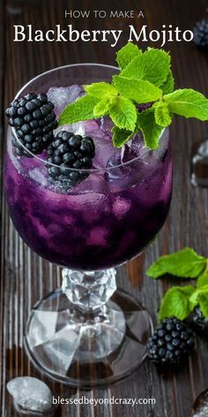 New post! Here's how to make the best Blackberry Mojito ever!                                                                                                                                                                                 More