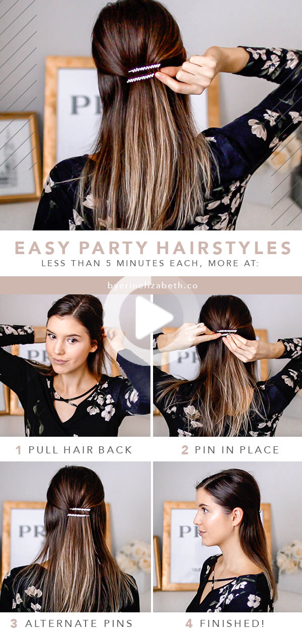 The Easiest Holiday Hairstyles For Your Parties In 2020 Medium Length Hair Styles Holiday Hairstyles Easy Holiday Hairstyles
