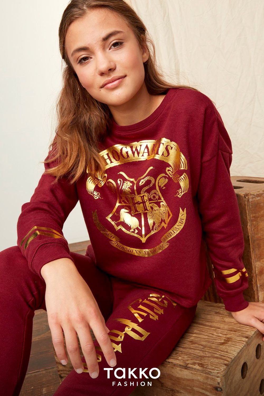 Kleidung Mit Harry Potter Fur Madchen Dunkelroter Schlafanzug Aus Sweatshirt Und Langer Hose Harry Potter Kleidung Gunstige Klamotten Kind Mode