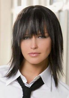 Photo coupe de cheveux mi long degrade