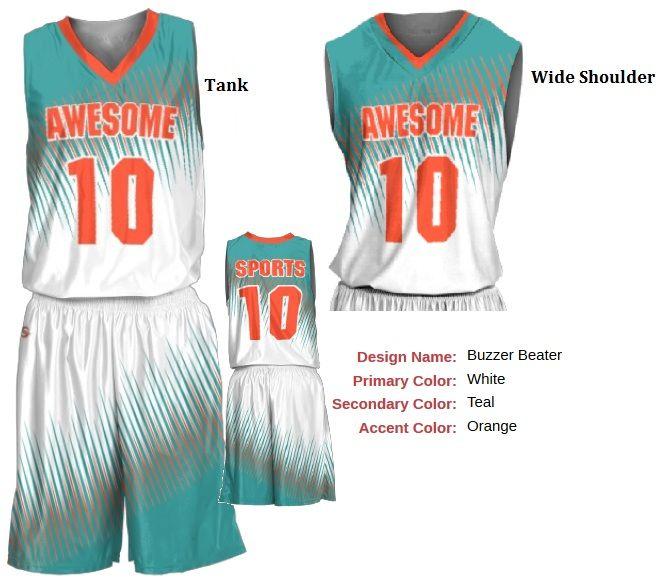 6bf59e11973 Men - Women - Custom Basketball Uniforms - Buzzer Beater Style ...