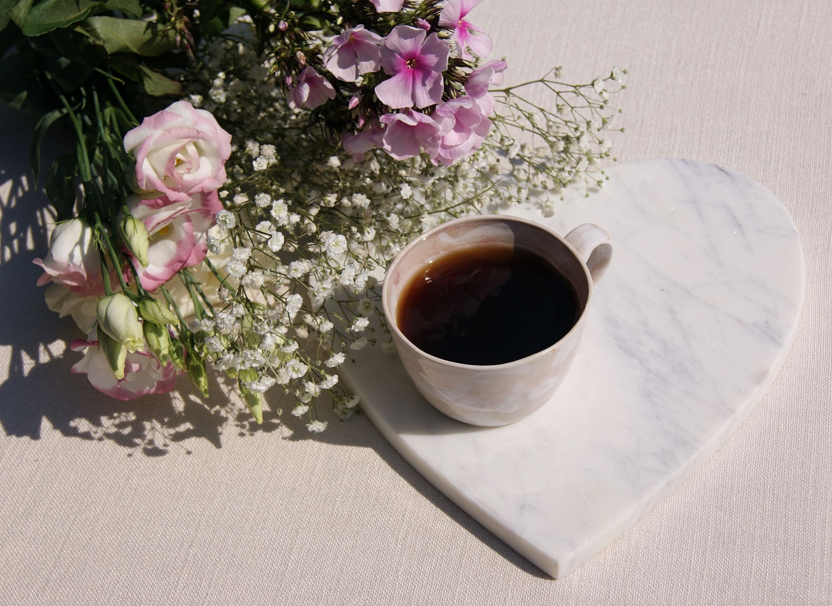 Coffee flowers and fair trade hearts flowers coffee