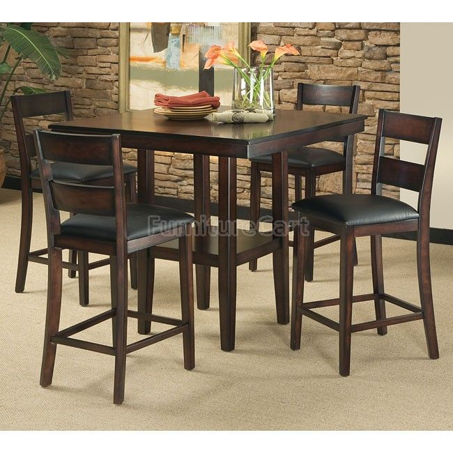 Pendwood 5 Piece Counter Height Dining Room Set Counter Height Dining Table Pub Table And Chairs Dining Room Sets