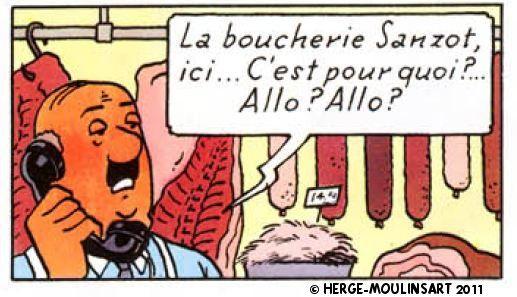 La Boucherie Sanzot D Herge Herge Boucherie Tintin
