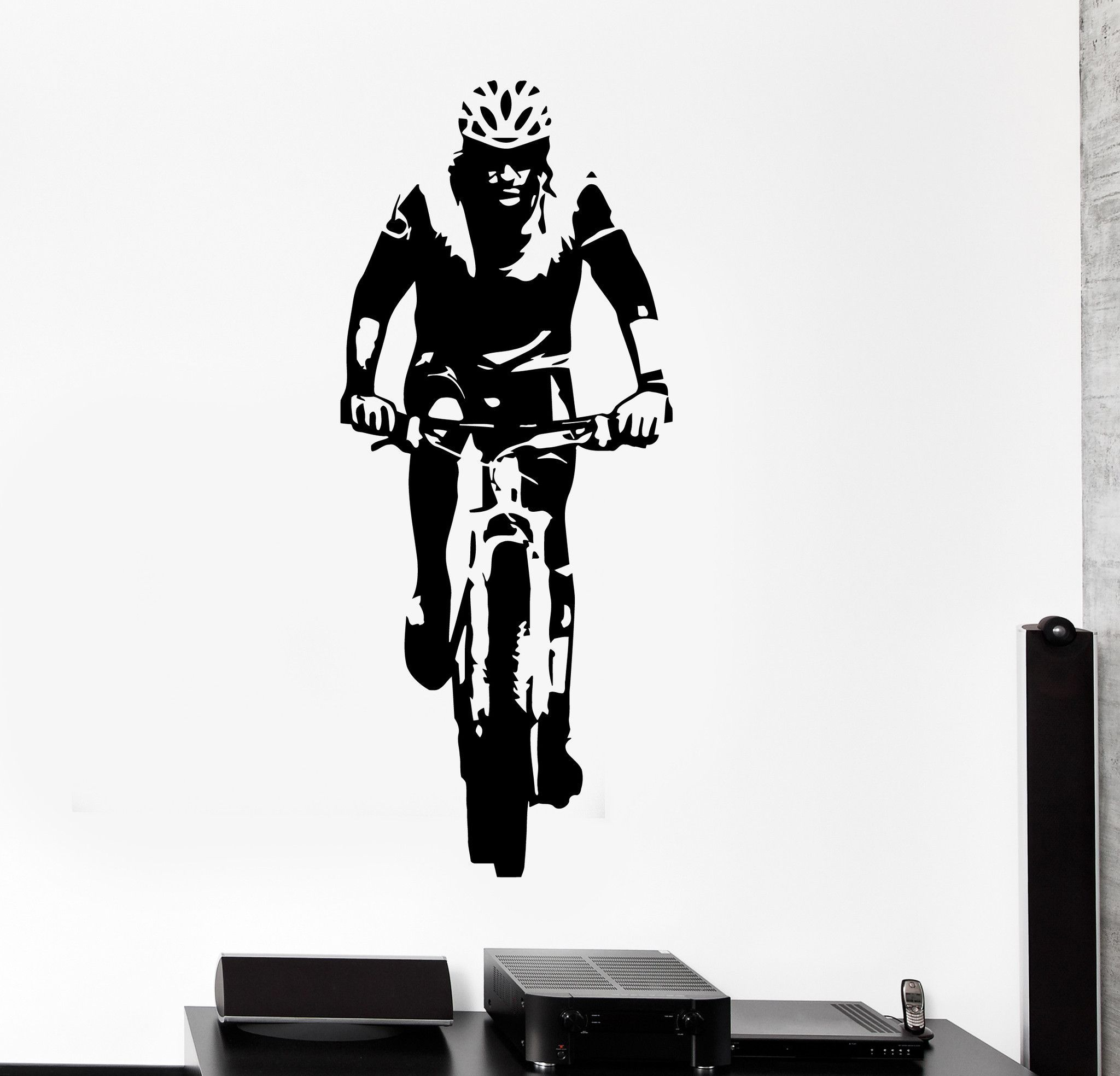 Vinyl wall decal cyclist sport bike bicycle stickers mural unique vinyl wall decal cyclist sport bike bicycle stickers mural ig4419 amipublicfo Choice Image