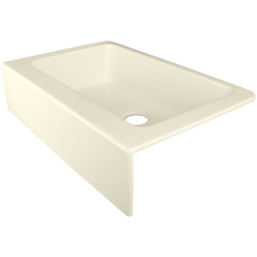 Corstone Almond Single Basin Acrylic Apron Front Kitchen Sink