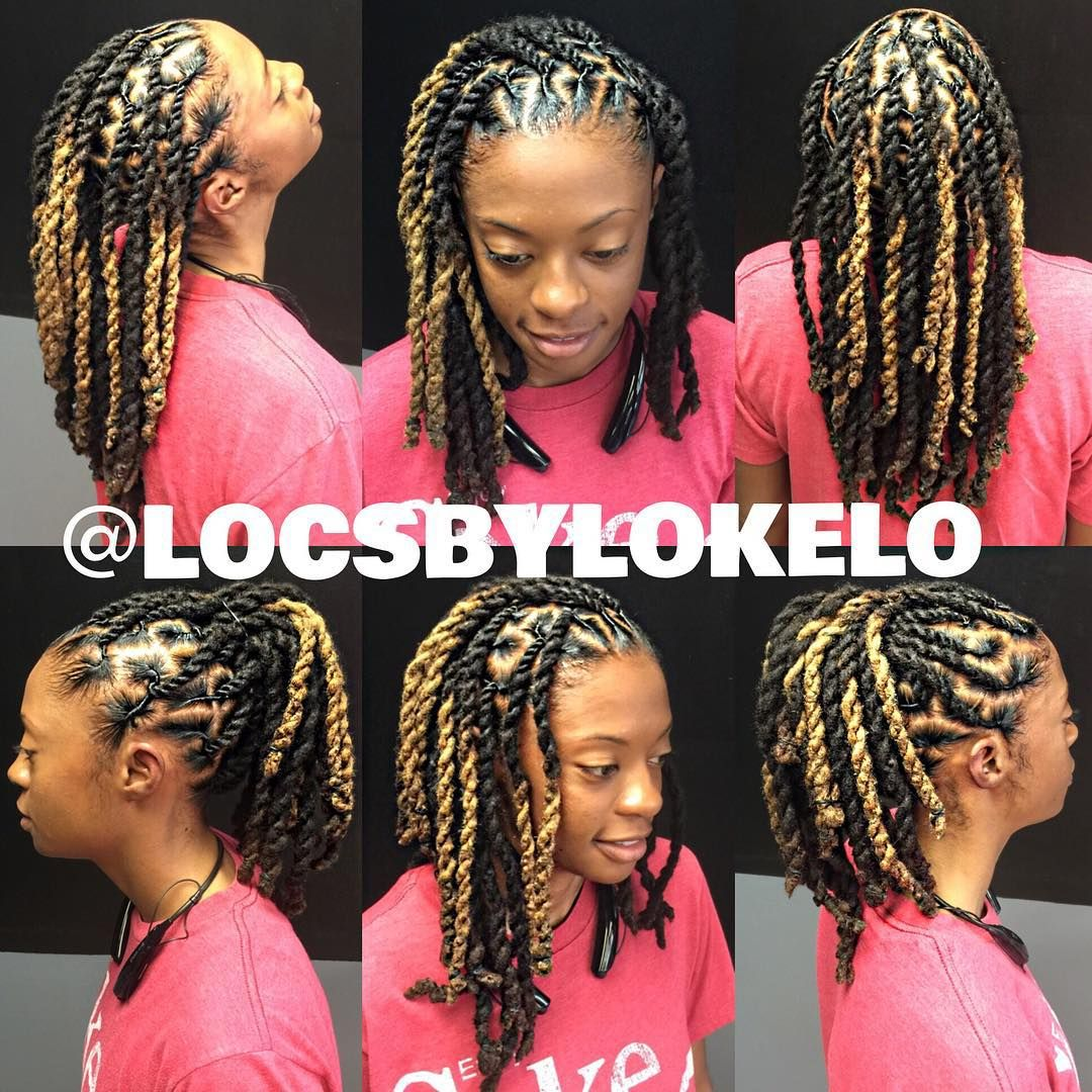 Two Strand Twist En Locs With Images Locs Hairstyles