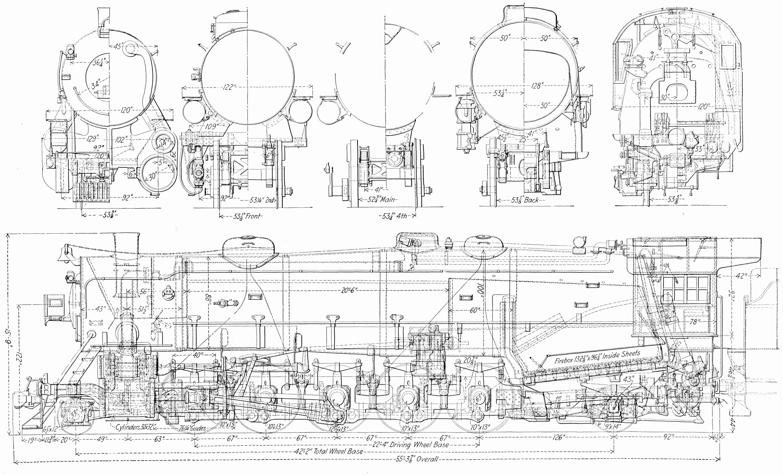 usra heavy santa fe old schematics train drawing bnsf railway train engines model train layouts  [ 6082 x 3687 Pixel ]
