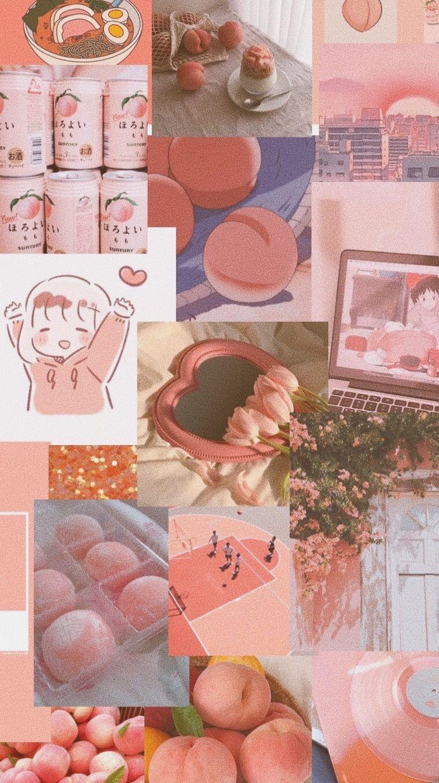 Peach aesthetic phone wallpaper