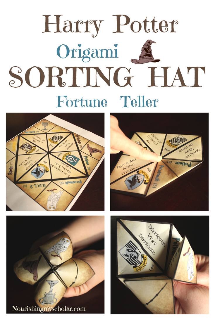 Harry potter origami sorting hat fortune teller sorting hat a harry potter origami sorting hat fortune teller also known as a cutie catcher was exactly what we needed as we finished harry potter and the sorcerers jeuxipadfo Gallery