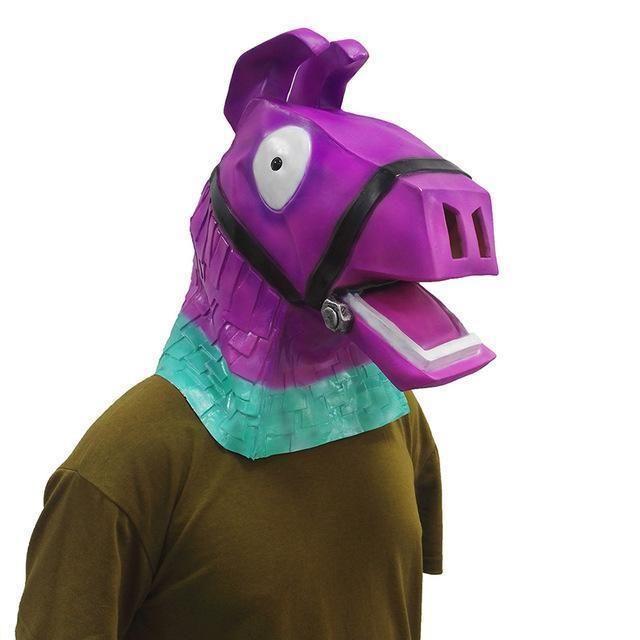 fortnite loot llama pinata mask halloween costume full face rainbow horse usa - fortnite llama costume
