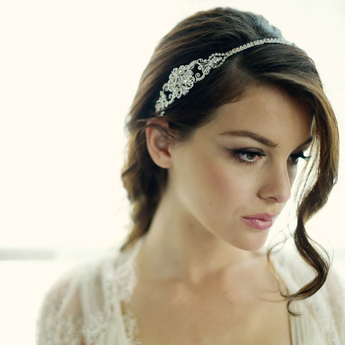 Hair accessories headbands uk - Aye Do Ltd Beatrice Bridal Side Tiara Hdb5 Awj 75 00 Taupe Weddingpurple Weddingbridal Headbandsbridal Hair Accessoriescrystal
