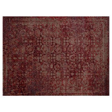 Check out this item at One Kings Lane! Castor Rug, Red/Taupe