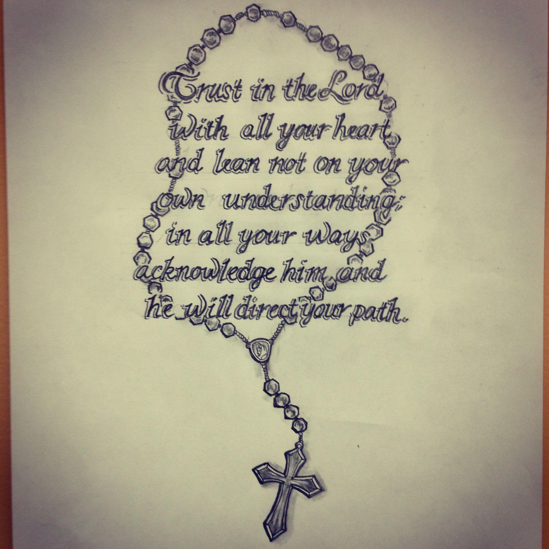 ff0f07c51 Bible scripture / rosary tatt… | Tattoo Art / Sketches - All Pieces ...