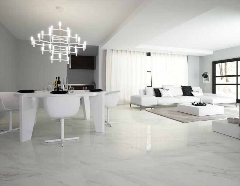 Calacatta bianco brillo 1 80x80es un azulejo porcel nico - Tipos de marmol blanco ...