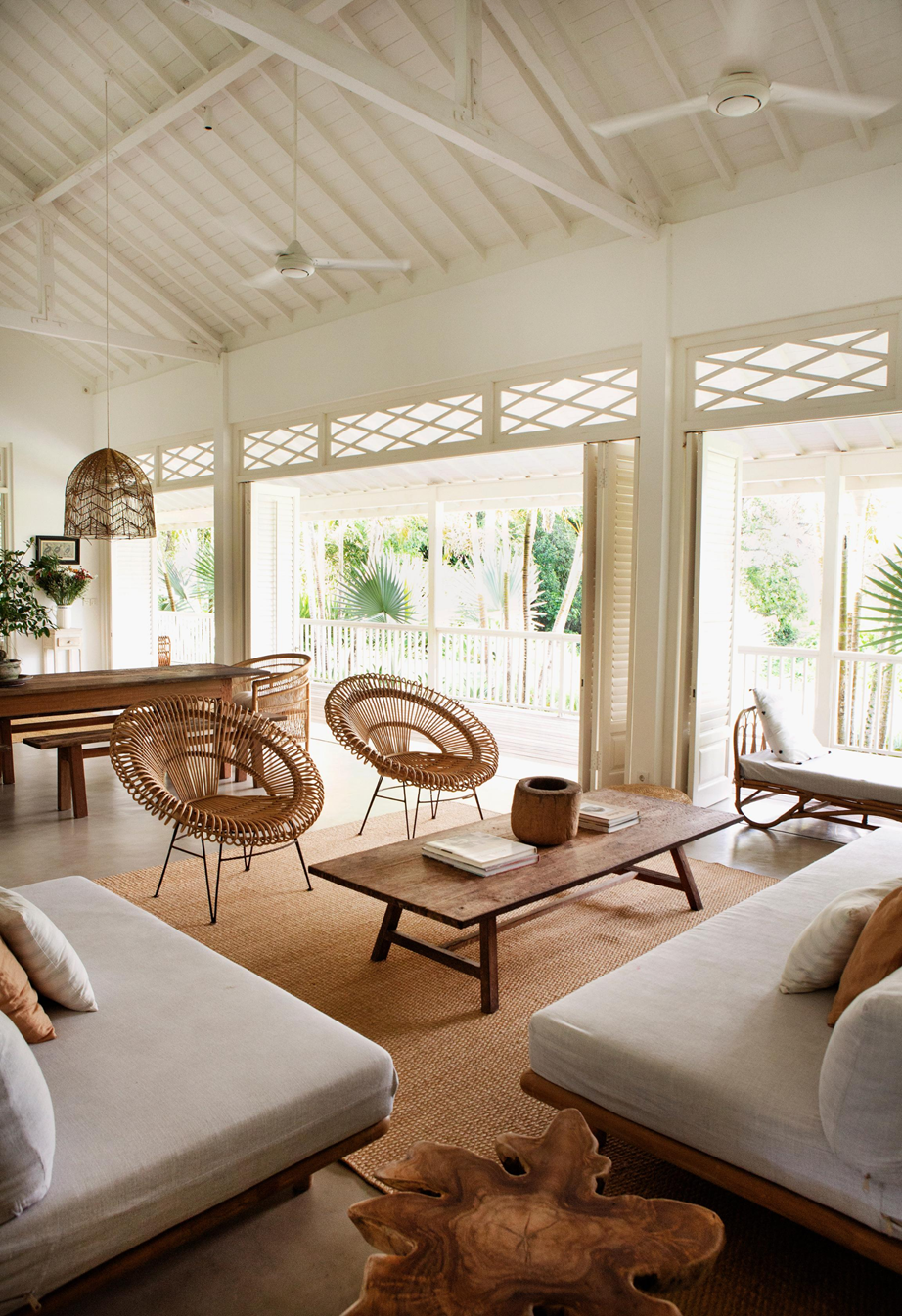 Magali Pascal S French Caribbean Inspired Home In Bali Tropical Living Room Bali Style Home Balinese Decor