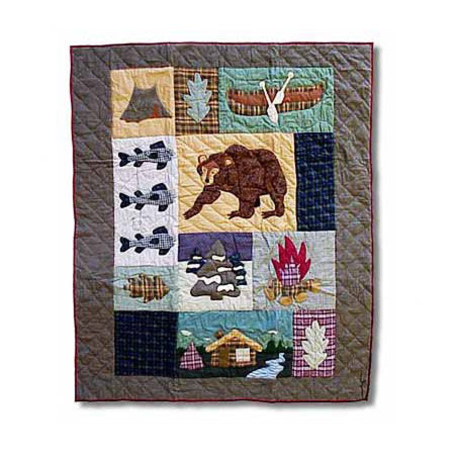 Patch Magic Cabin Throw Quilt - THCABN