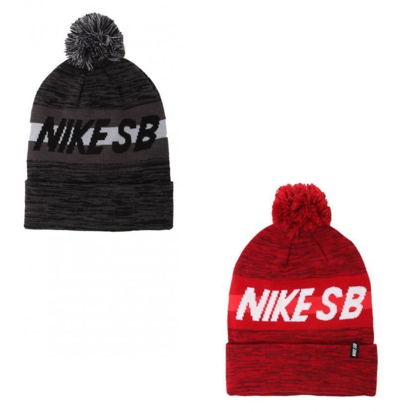 a9277d3fca9df5 Details about MEN'S GUYS NIKE SB STRAIGHT HIT POM RED BEANIE TOQUE ...