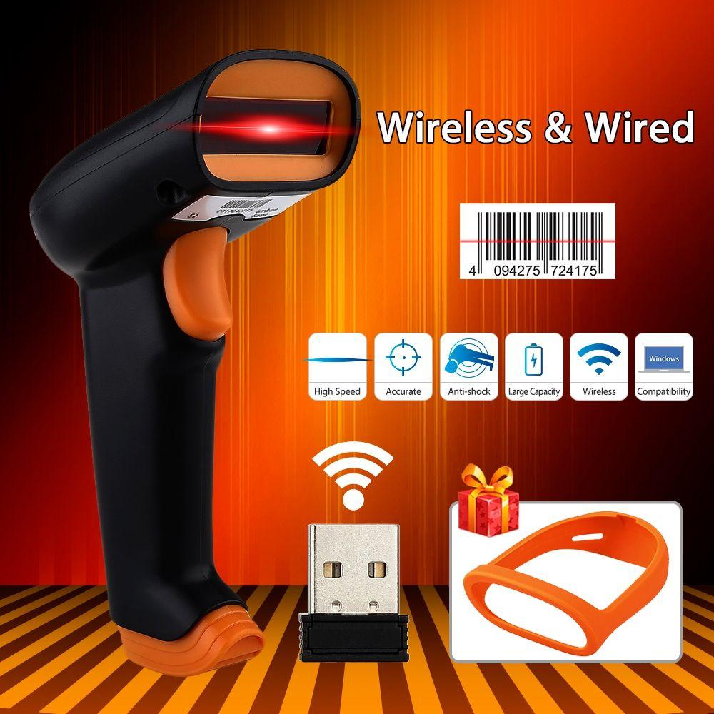 NETUM S2 Wireless Barcode Scanner 2000mAh Bar Code Reader 2 4G up to