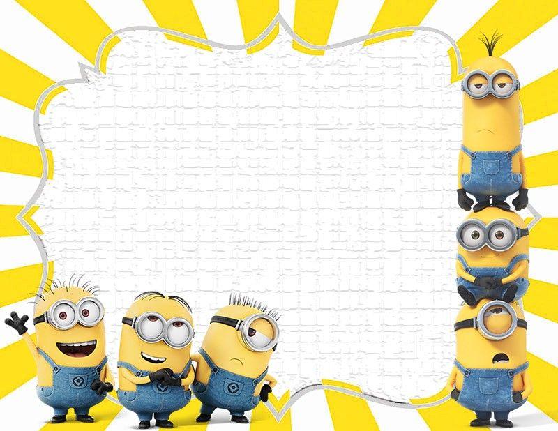 Minion Invitation Design Minion Invitations The Best Of Minion Invitation Minion Birthday Invitations Kids Invitations