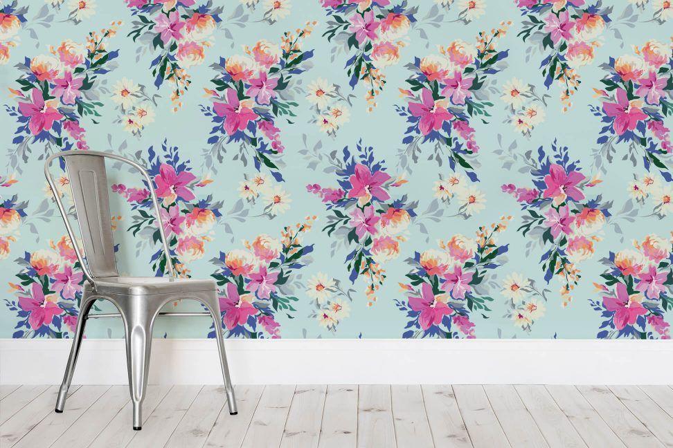 Tropical Paradise Floral Wallpaper | Milexa