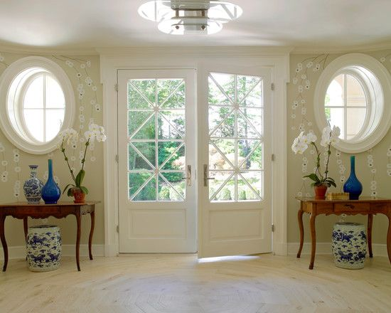 Amazing home with double front doors greenwich french for White double french doors