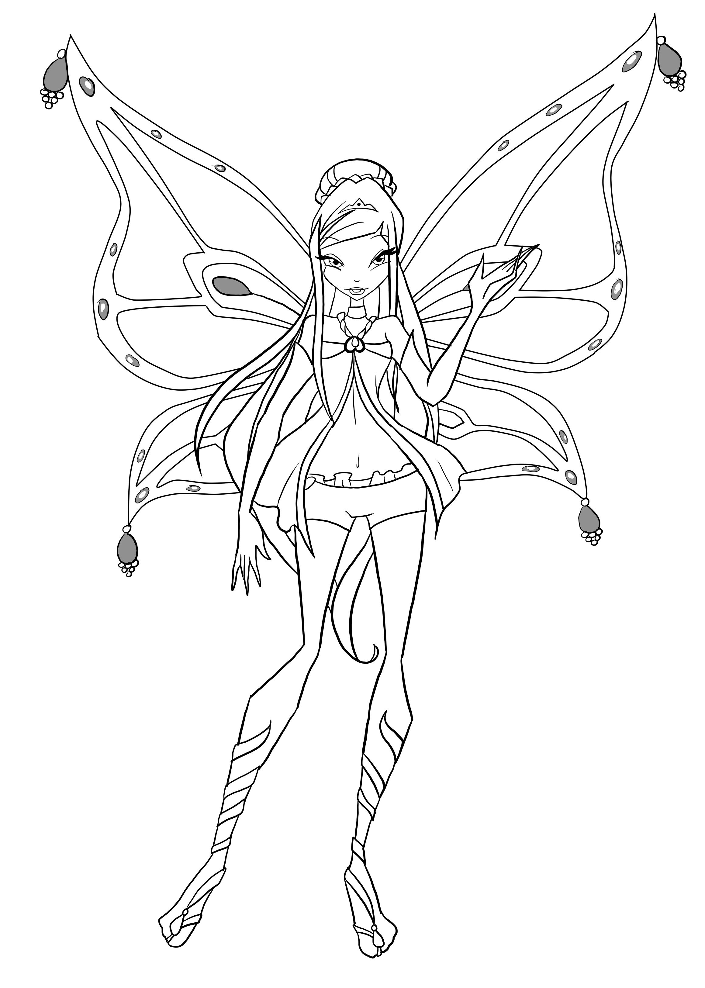 coloriage winx enchantix stella ColoriageWinx Coloriage