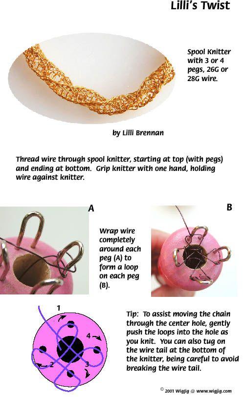Lilli S Twists Wire Necklace Jewelry Wire Crochet Knit