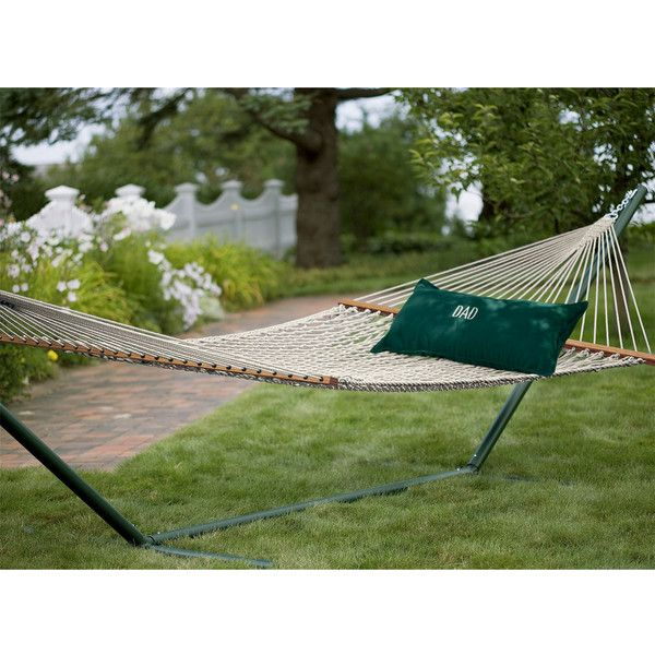L.L.Bean Backyard Duracord Hammock ($189) ❤ Liked On Polyvore Featuring  Home, Outdoors