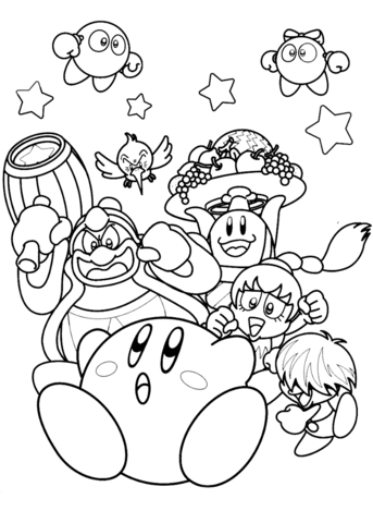 Nintendo Kirby Coloring Page Monster Coloring Pages Super Mario Coloring Pages Mario Coloring Pages