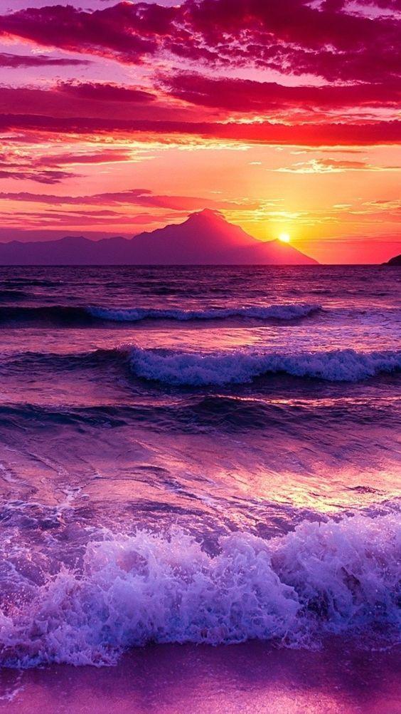 Sky, Horizon, Body of water, Sea, Afterglow, Wave | Sunset wallpaper, Ocean  wallpaper, Landscape wallpaper