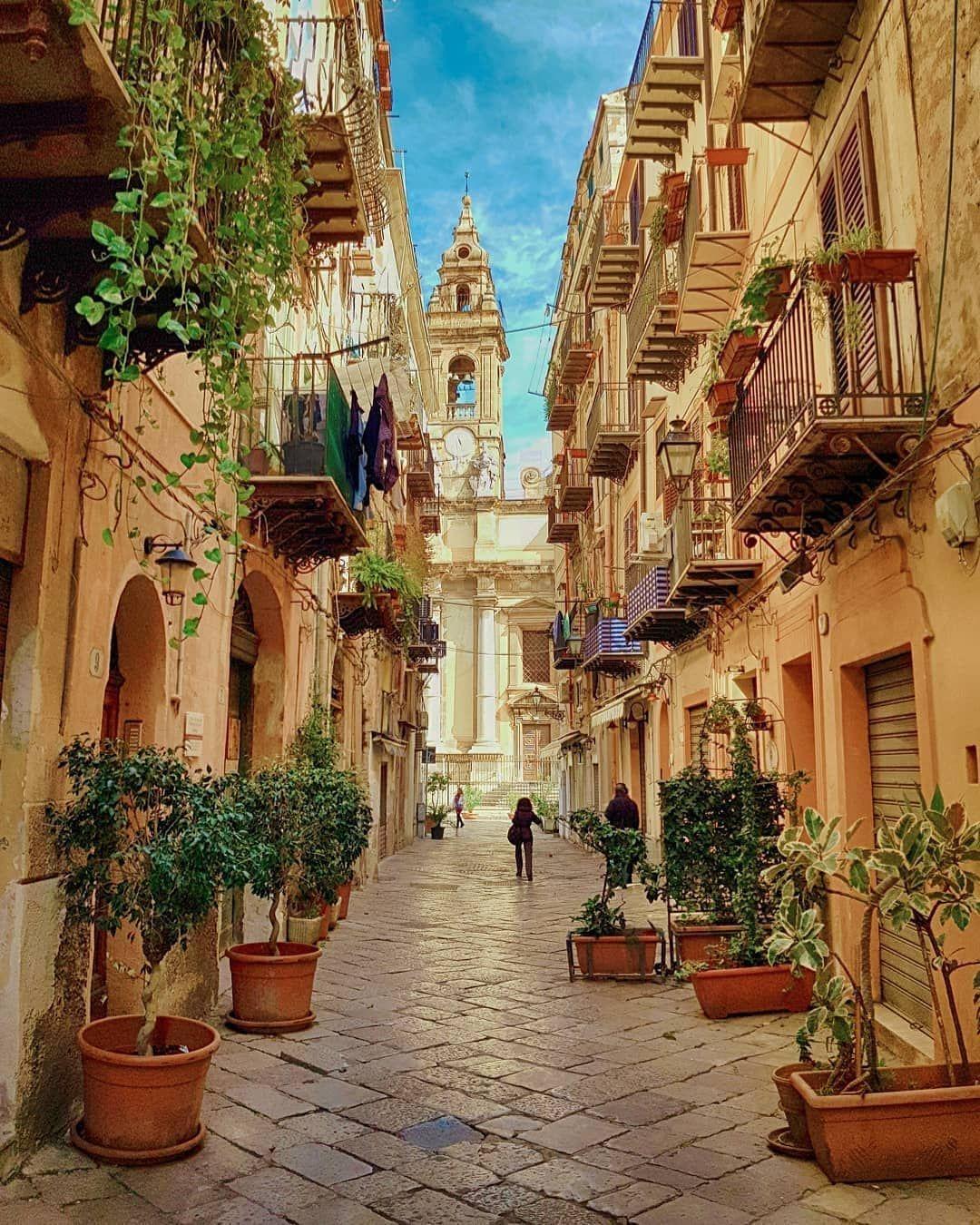 Palermo ❤☕🌻 Sicily Congrats @blogsognoitaliano Use #map_of_europe  #map_of_Italy   Palermo sicily, Places to travel, Palermo