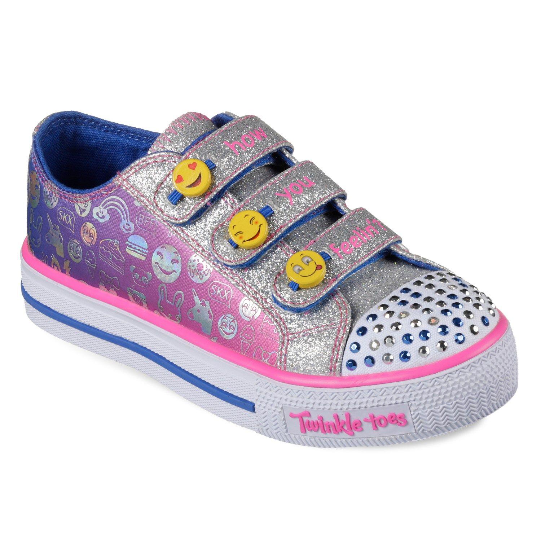 Skechers Twinkle Toes Shuffles Expressionista Emoji Girls