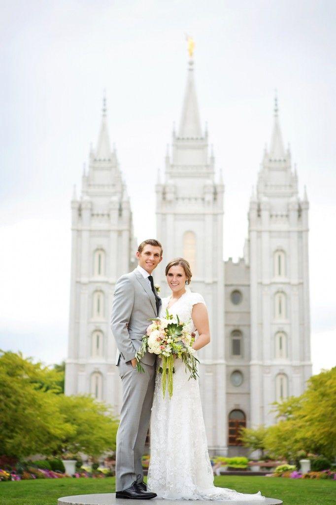 Lace dress #wedding #saltlakecity #temple