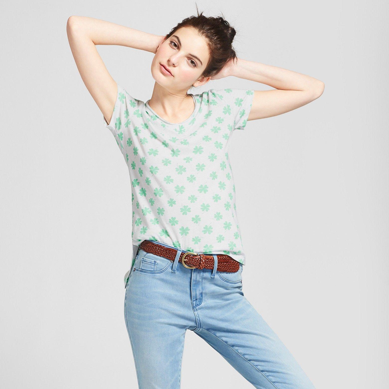 c27d10845ccf1 Women s St. Patrick s Day Short Sleeve V-Neck Graphic T-Shirt - Grayson