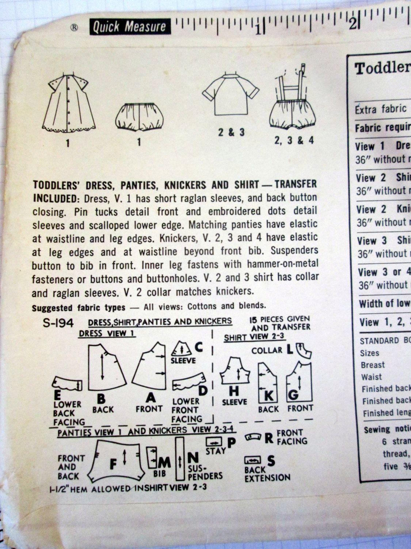 Vintage 50s Simplicity S.194 Toddler's Dress by KonnieKapow