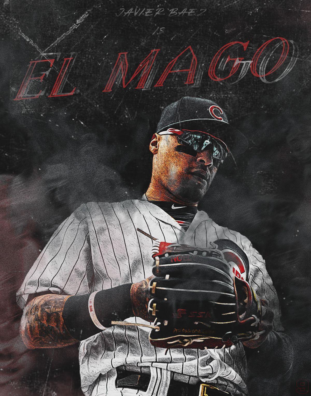 Javy Baez El Mago Graphic On Behance Baseball Wallpaper Baseball Project Chicago Cubs Wallpaper