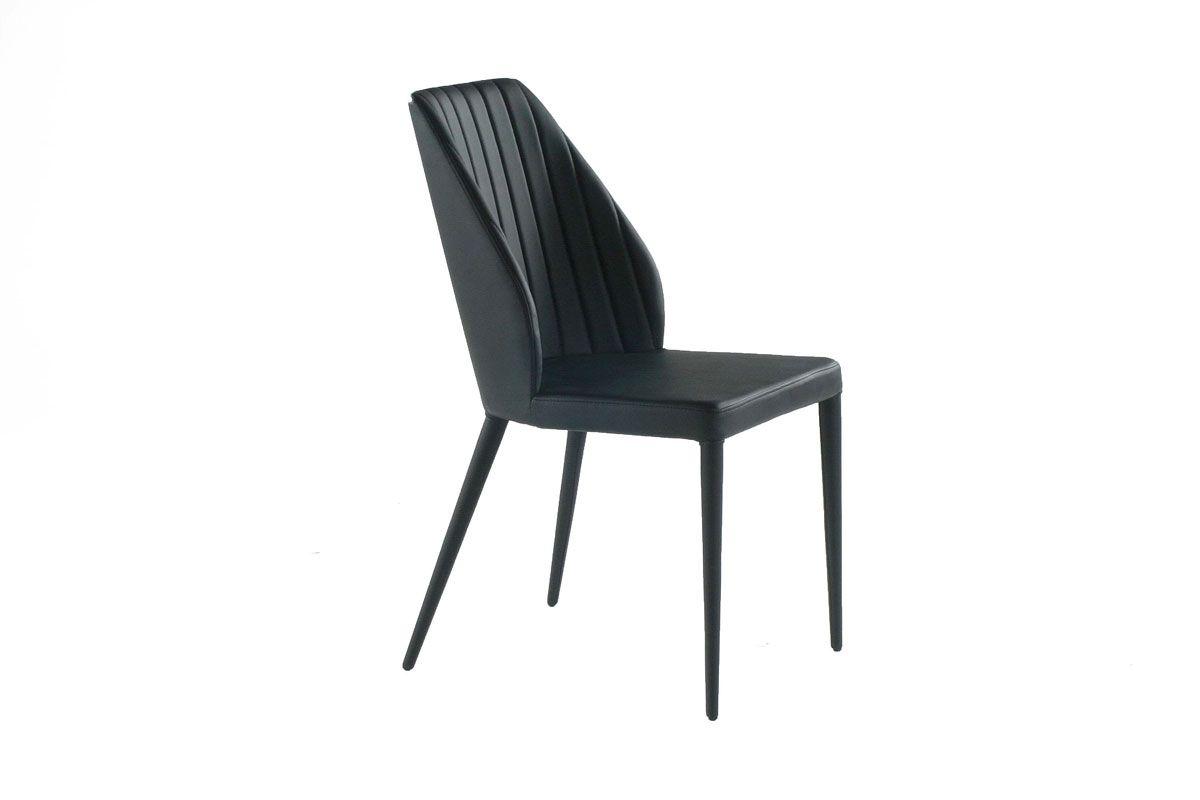 Gdc687 Chaise Stylee Et Confortable En Simili Cuir Noir Egalement Disponible En Coloris Gris In 2020