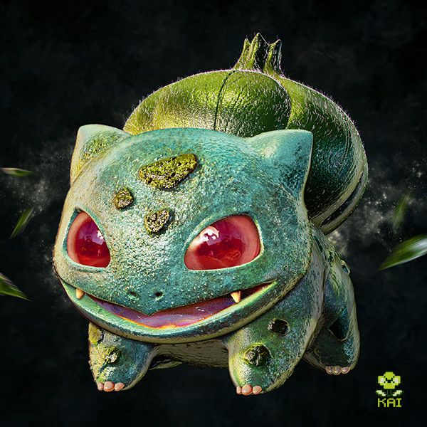 Realistic Pokemon: Bulbasaur, Kai Kiat