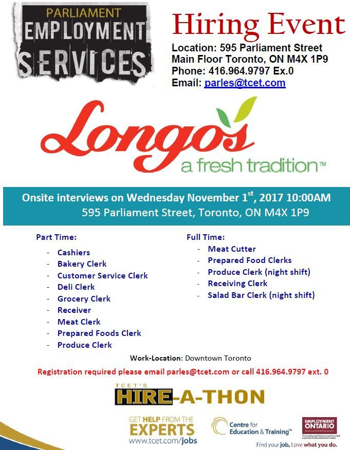 Looking For Work In Toronto Don T Miss The Longo S Hiring
