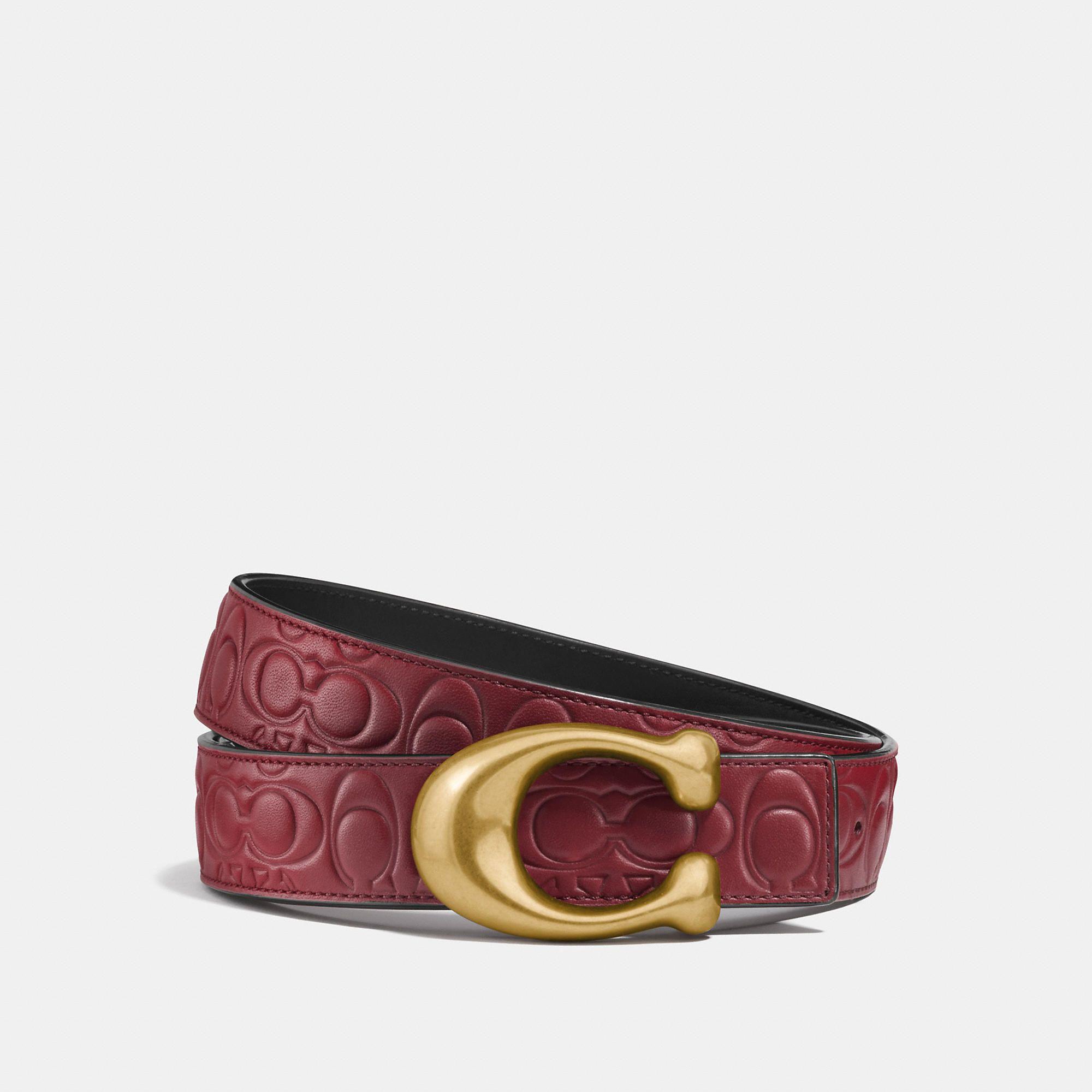 Signature buckle reversible belt, 32mm Reversible belt